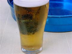 Beer glass and tray